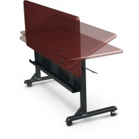 MooreCo Flipper Tables in Mahogany - Choose Shape and Size