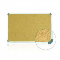 Aluminum Radial Edge Euro-Style Frame Natural Cork Tackboards by Ghent