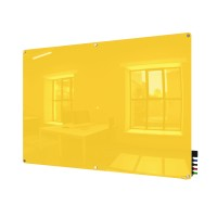 Harmony Colored Magnetic Glass Boards - Radius Corners - 5 Sizes in 8 Colors by Ghent