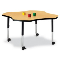 Jonti-Craft Berries® Mobile Four Leaf Activity Table - Select Color