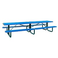 12' Standard Perforated Metal Portable Picnic Table