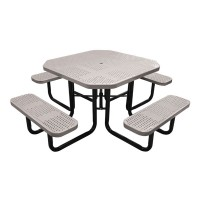 "46"" Octagonal Perforated Metal Portable Table"