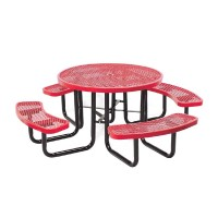 "46"" Round Expanded Metal Portable Table"