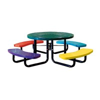 """46"""" Round Perforated Metal Children's Portable Table"""