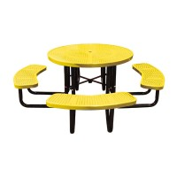 "46"" Round Perforated Metal Portable Table"