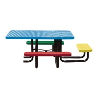 "46"" Square Expanded Metal Children's ADA Table"
