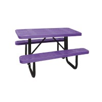 4' Standard Perforated Metal Portable Picnic Table