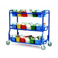 Library on Wheels With 18 Small Tubs - Copernicus LW430-18