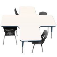 """60"""" x 60"""" Collaboration Station Colorful-Edge Dry-Erase Markerboard Activity Table - Allied M660CS"""