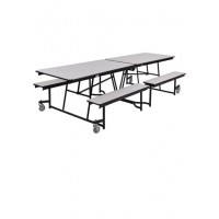 Cafeteria Tables with Bench Seats - Choose Size - National Public Seating