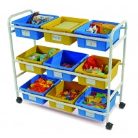 Multi-Purpose Cart with Blue & Yellow Tubs - Copernicus CC005-9-WBY