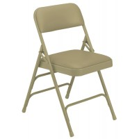 NPS 1300 Series Vinyl Upholstered Premium Folding Chairs - Triple Brace - Three Colors - Must Order in Multiples of 4