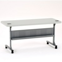 """NPS  24"""" x 60"""" Flip and Store Blow-Molded Table - BPFT-2460"""