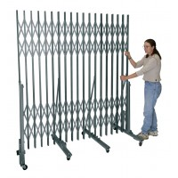 "Superior Portable Gate For corridor widths 13'-0"" - 18'-0"" 736 Sport Silver"