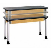 """Adjustable Height Table, 60""""W x 27""""H x 30""""D - 2 Top Types"""