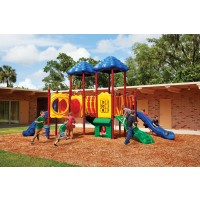 UPlayToday UPLAY-014-P Pike's Peak Play Structure for Ages 2-5 or 5-12