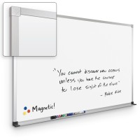 MooreCo Porcelain Markerboard - ABC Trim - Multiple Sizes with or without Maprail