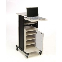 Premium Plus Presentation Cart with Storage Cabinet - PRC250 by Oklahoma Sound