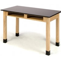 Standing Height Phenolic Science Tables with Book Compartments by National Public Seating