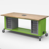 The Rover Table - Mobile Makerspace STEAM Workstation by Haskell - Choose Color & Configuration