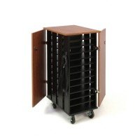 Tablet Charging/Storage Cart (Cherry/Black) - TCSC by Oklahoma Sound