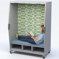 Haskell Think Nook - Reading Nook and Personal Quiet Space with Power Option