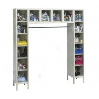 "Hallowell Safety-View Plus Locker, 72""W x 18""D x 78""H, 729 Parchment, 16-Person,"
