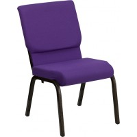 Signature Series 18.5''W Stacking Church Chair with 4.25'' Thick Seat - Gold Vein Frame - 10 Seat Options