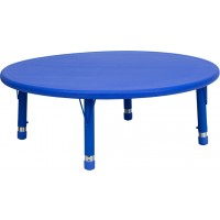 45'' Round Height Adjustable Plastic Activity Table - 3 Colors Available