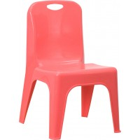 Plastic Stackable School Chair with Carrying Handle and 11'' Seat Height - 3 Seat Options
